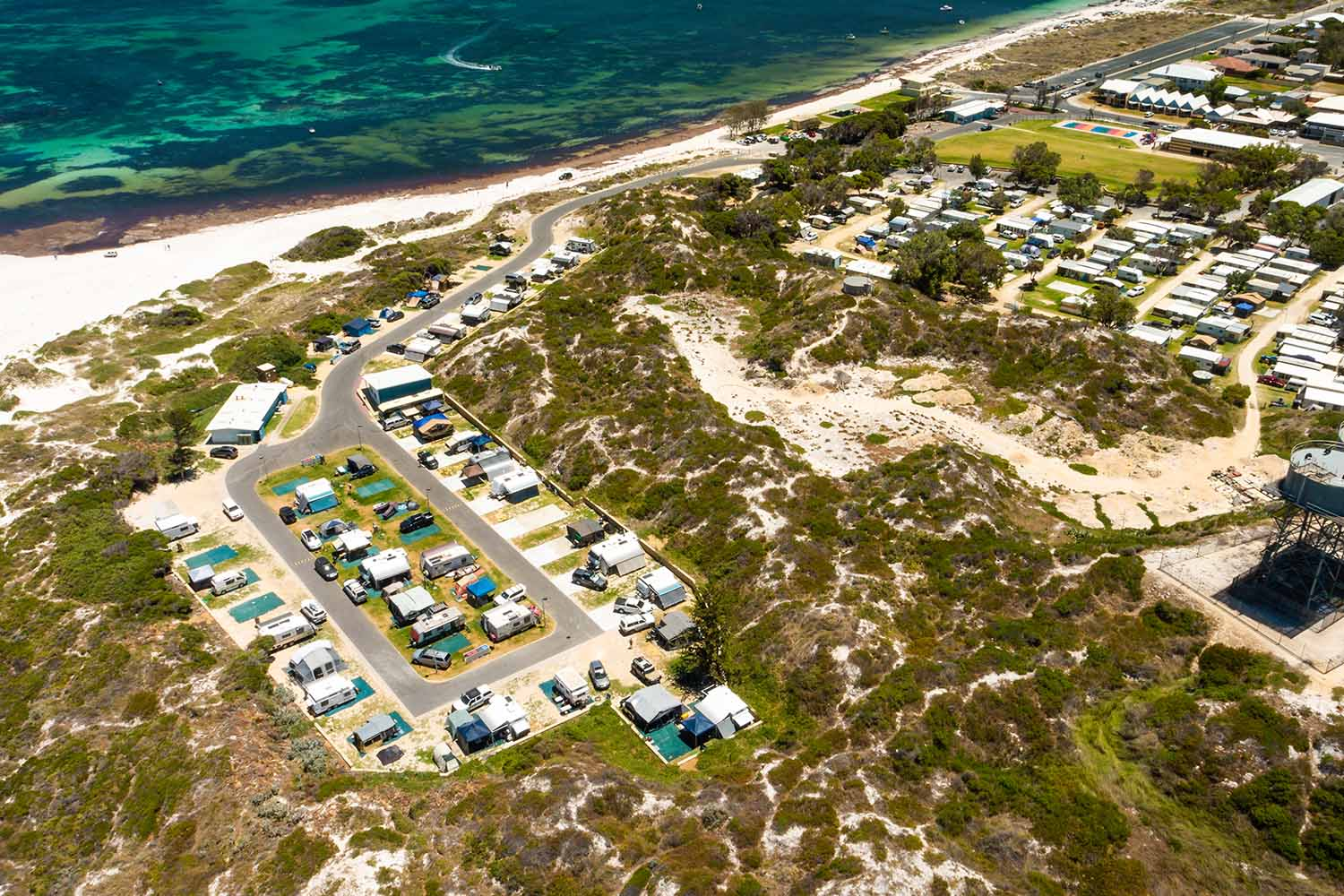 Lancelin Holiday Park Aerial View